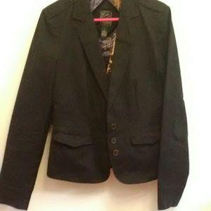 Lucky Brand Casual Black Jacket Size L EUC
